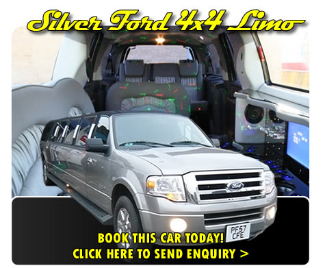 Silver Ford 4x4 Limo