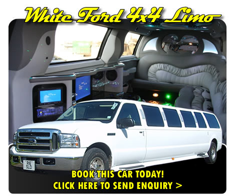 White Ford 4x4 Limo